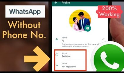 How to use WhatsApp without Mobile Number or OTP Verification | [100% Working]